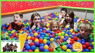 Mystery Ball Pit Food Surprise Challenge Ft. April And Davey / That YouTub3 Family
