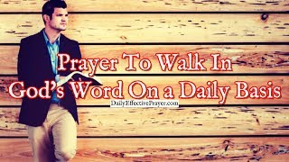 Prayer To Walk In God