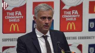 José Mourinho: I Want To Dedicate This Victory To Louis Van Gaal!   PRESSER
