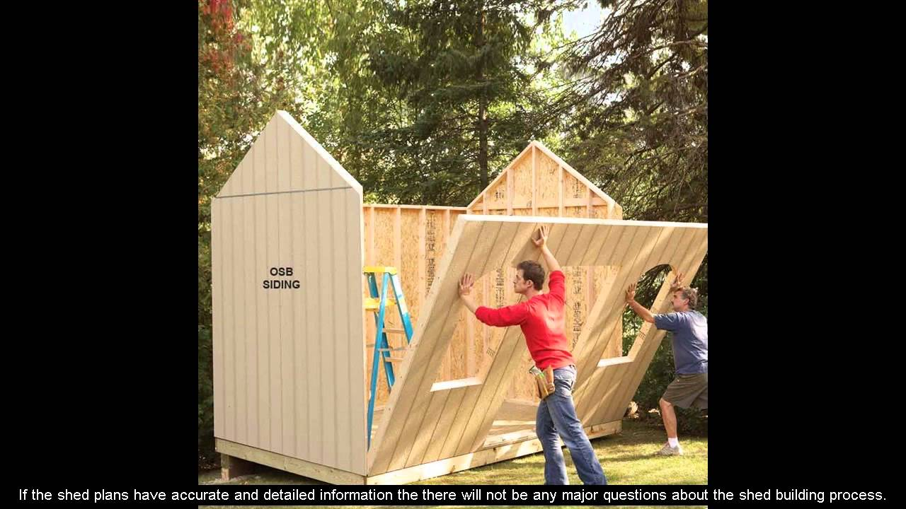Build A Wood Shed Plans