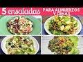5 Ensaladas fáciles para Almuerzos y Cenas  Cocina de Addy