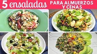 5 Ensaladas fáciles para Almuerzos y Cenas |Cocina de Addy