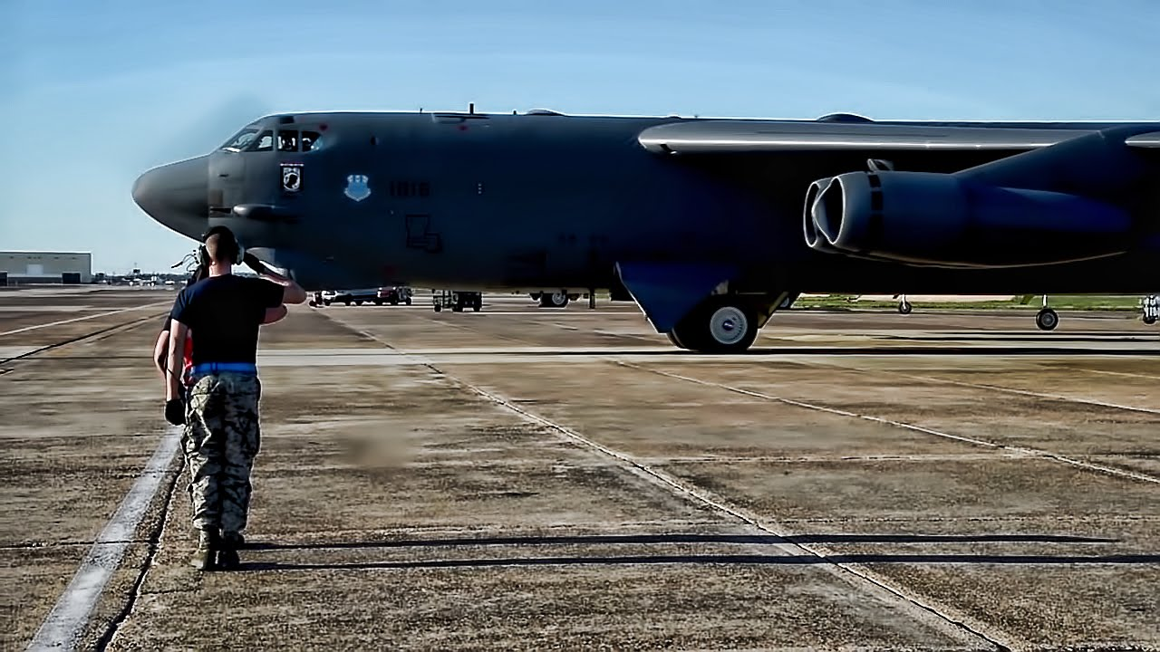 B-52 Bomber Launch In Support Of Cold Response 2016 - YouTube