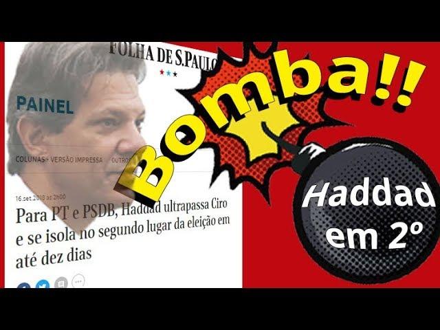Haddad/Lula em 2º ANTES! da previsão da mídia