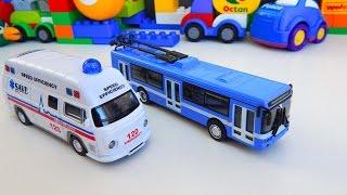 Мультик про машинки Тролейбус Швидка Допомога - Місто машинок 118 серія. Мультфільми українською