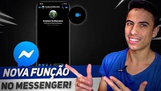 NOVA FUNÇÃO! Como COMPARTILHAR A TELA na CHAMADA DE VÍDEO do MESSENGER! screenshot 3