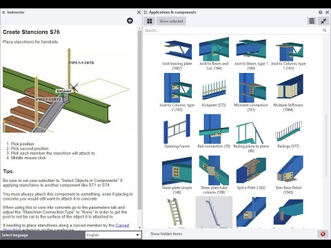 Tekla Structures 2021 - Instructor Side Pane