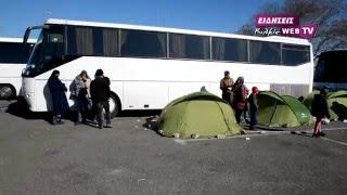 Κέντρο φιλοξενίας προσφύγων σε βενζινάδικο-Eidisis.gr webTV