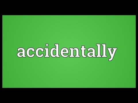 Accidentally Meaning