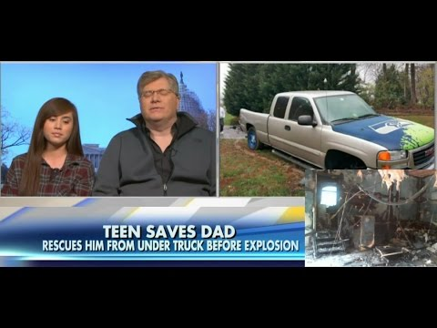 Teen Girl Lifts Pickup Truck to Save Dad's Life From Fire