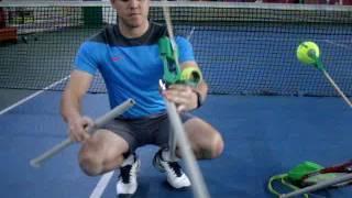 Большой теннис  Тренажёр Спинкоуч  Обучение вращёнию мяча