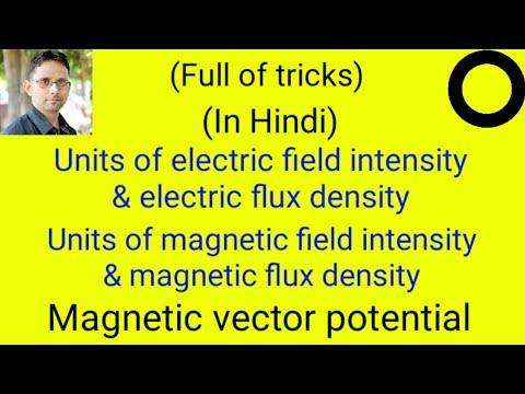 Units of field intensity and flux density | vector potential (EMT-49) by  SAHAV SINGH YADAV