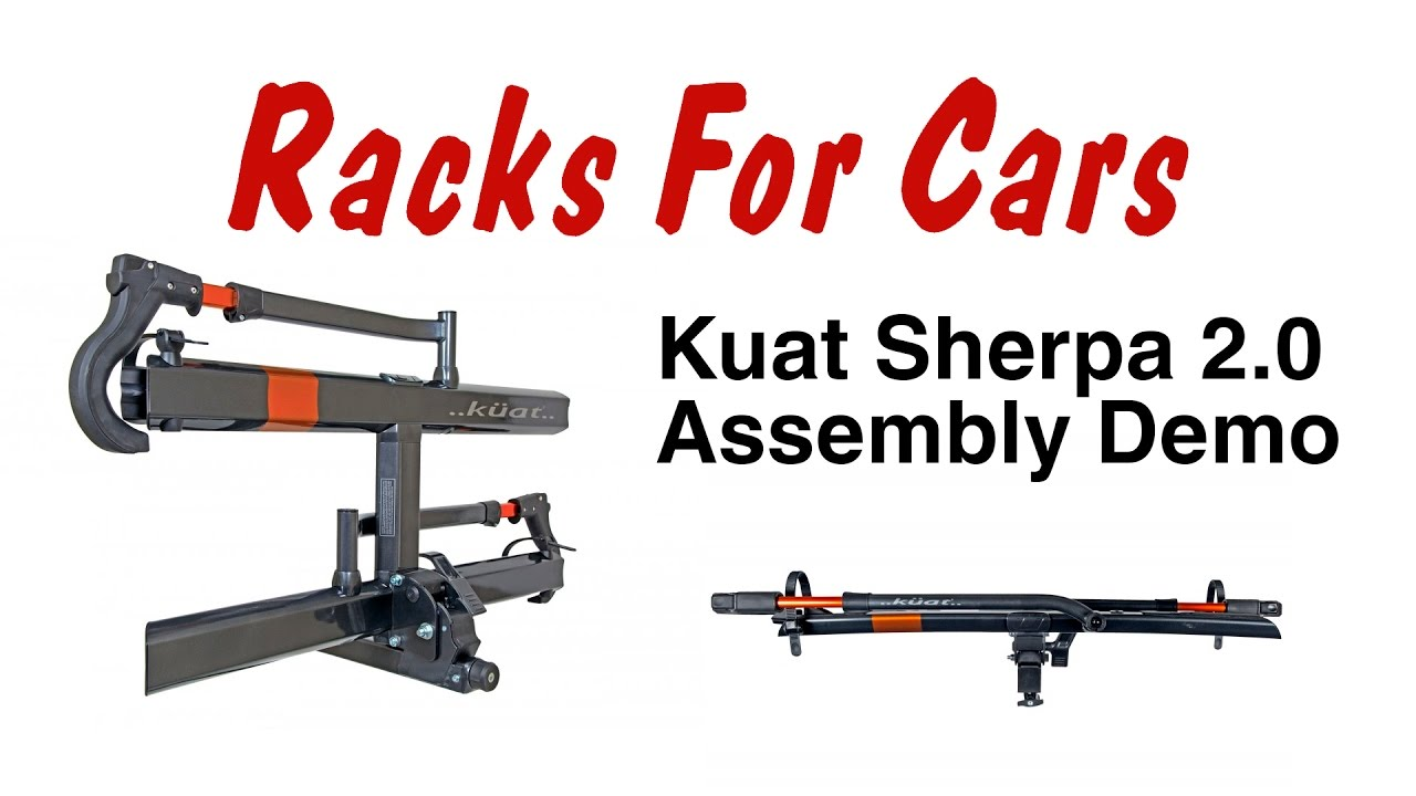 Kuat Sherpa 2.0 hitch bike rack assembly demonstration ...