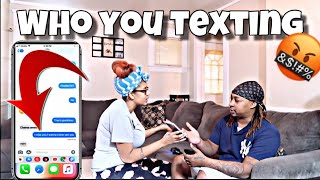 CAUGHT TEXTING ANOTHER GIRL PRANK ON WIFE!!!