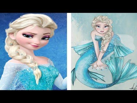Si Las Princesas De Disney Fueran Sirenas
