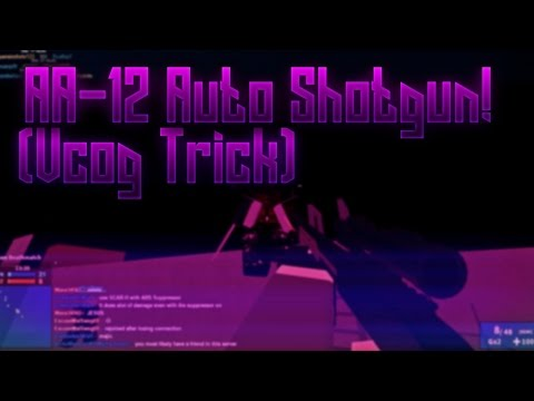 Roblox Phantom Forces - Shotgun VCOG Trick and AA-12 Auto Shotgun Info (with SolidGold)