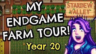 My Endgame Farm Tour! (Year 20) - How I Make BIG Money| Stardew Valley