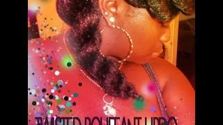 ❤FUNKY*GLAM*EDGY❤Twisted Bouffant Updo w/ Kanekalon Jumbo Braid {EASY}