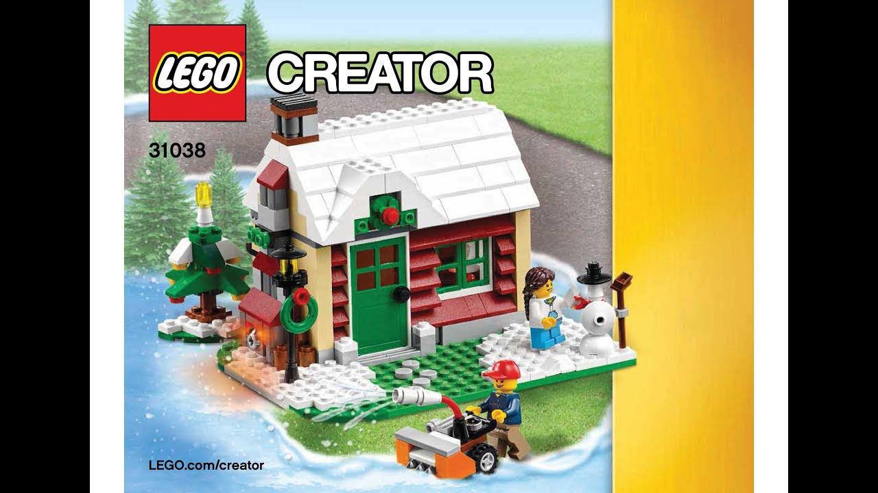 Lego 31038 Changing Seasons Winter Cottage Instructions Lego Creator