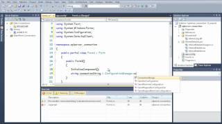 maken van SQL server-database met behulp van c # / c#