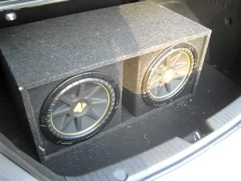 Two 12 Kicker Comps In A 2011 Hyundai Sonata Youtube