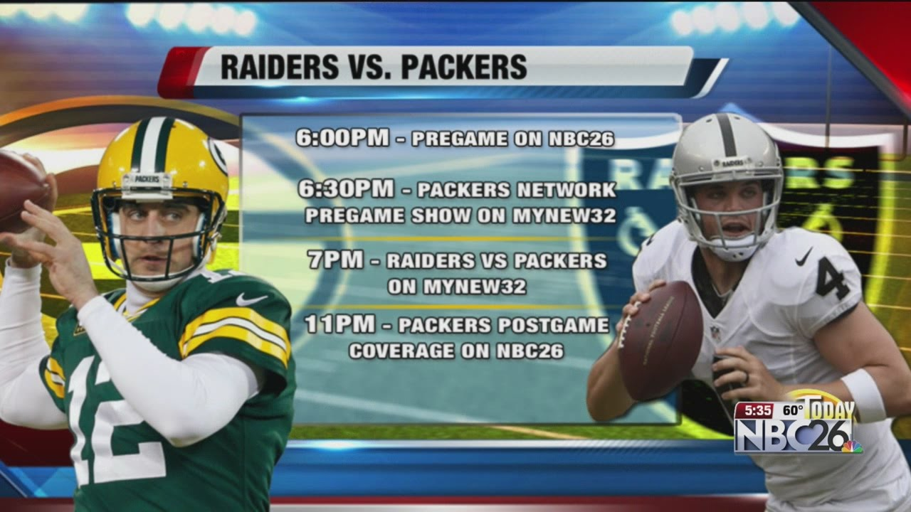 Packers Vs Raiders On Wacy Mynew 32 Youtube