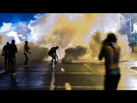 Michael Brown shooting: Tear gas fired during Ferguson protests