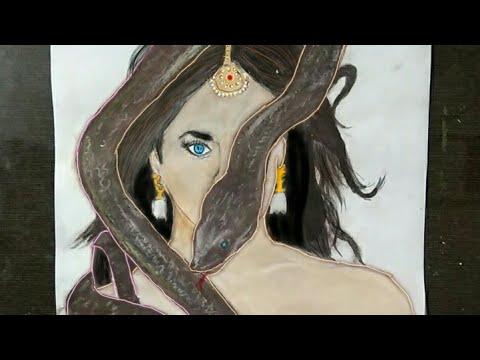 Naagin 3 - Surbhi Jyoti drawing - first look poster Naagin 3 - sahani art 4 you thumbnail