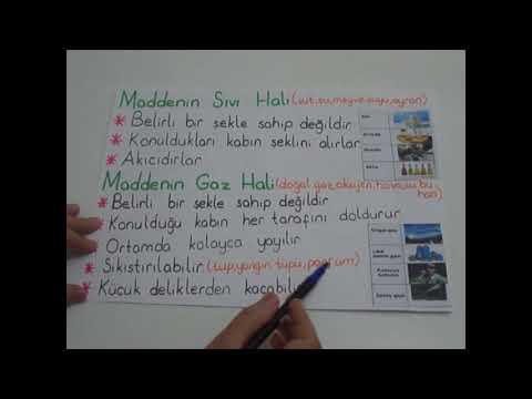 4. SINIF MADDENİN HALLERİ