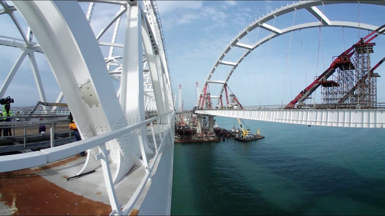 Крымский мост 360°: панорамная прогулка по железнодорожному арочному пролёту