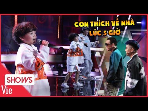 Rapper nhí Piggy khiến team Wowy phấn khích với bài hit Con Thích Về Nhà Lúc 5 Giờ siêu đáng yêu