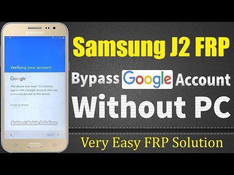 Latest Samsung J2 Bypass Google Account, FRP   1000% Working