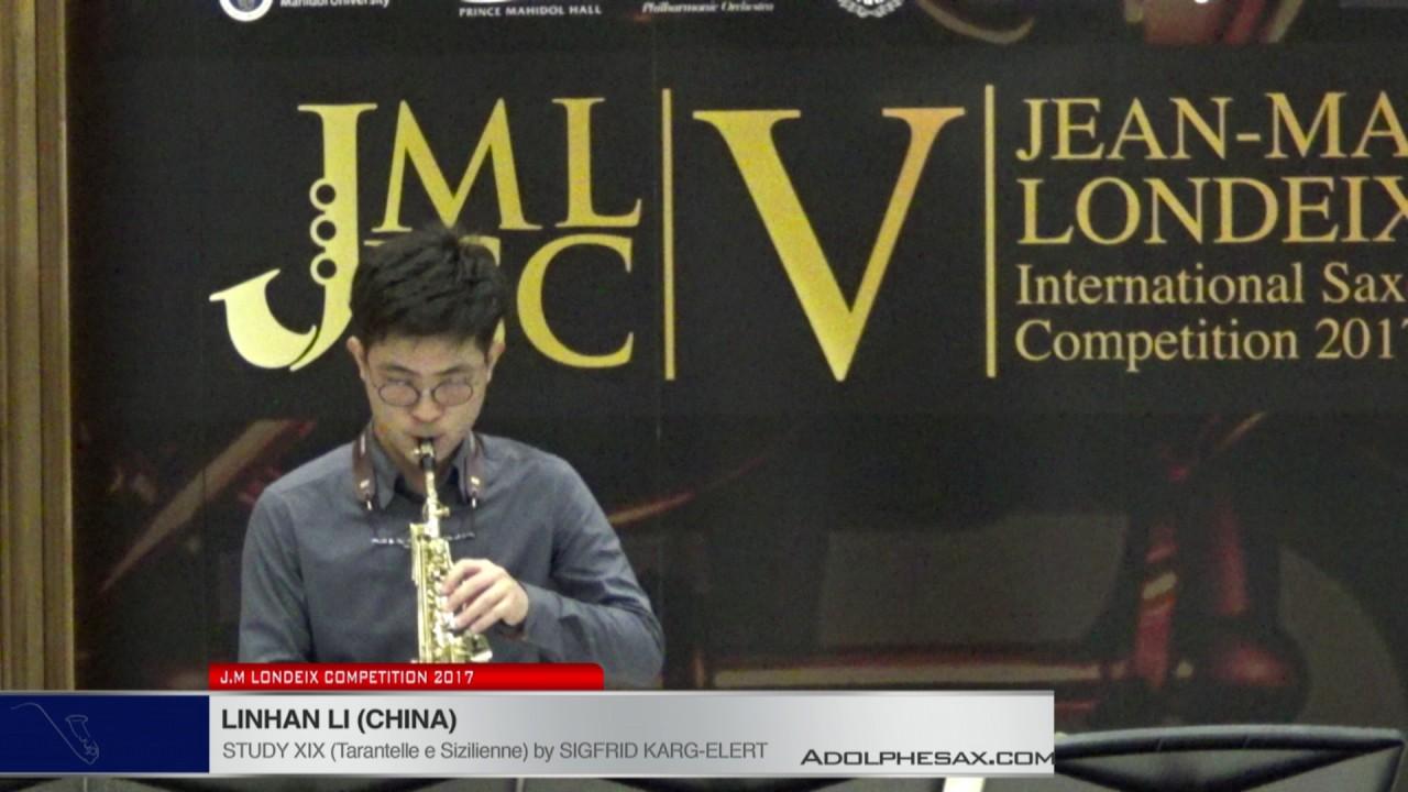 Londeix 2017 - Linhan Li (China) - XIX Tarantelle e Sizilienne by Sigfrid Karg Elert
