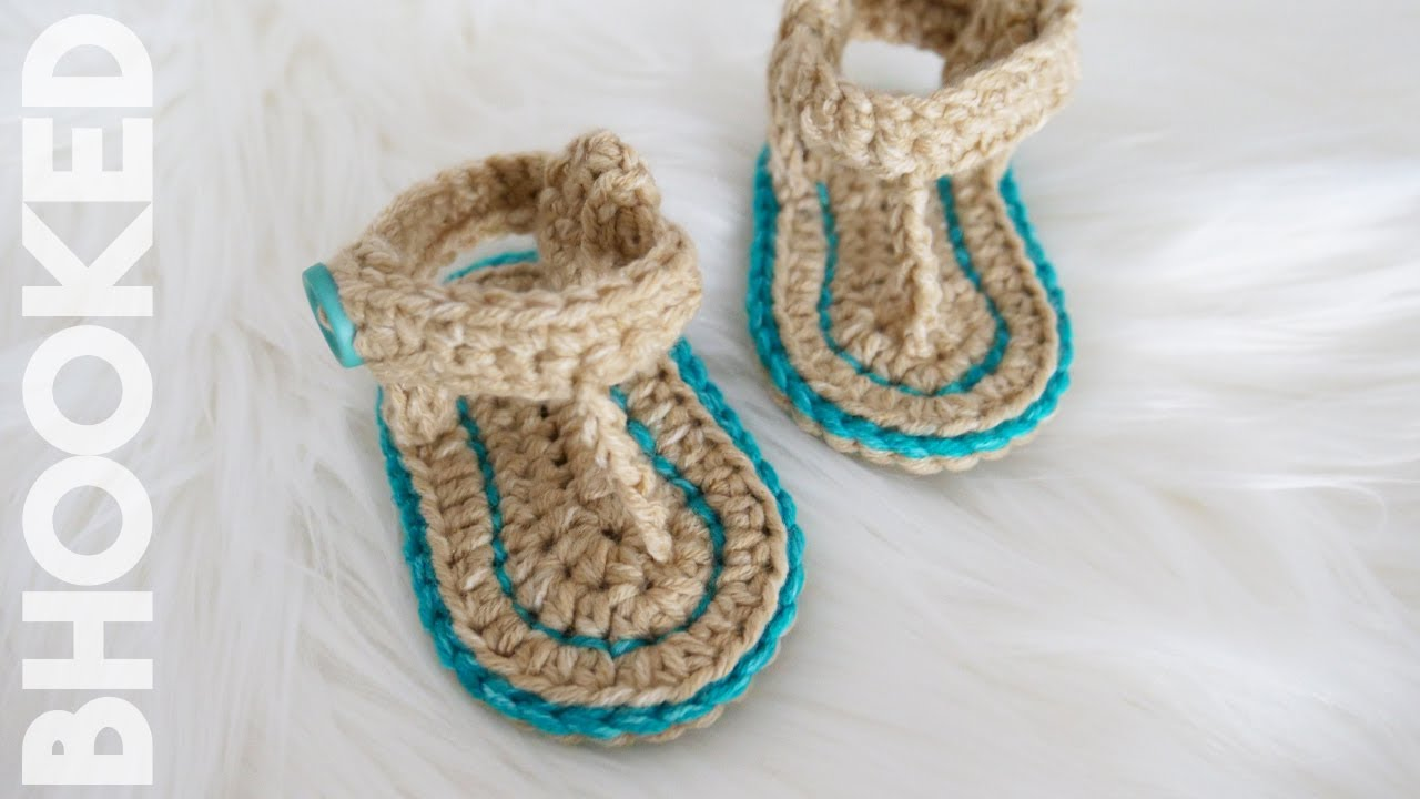 2ec11a12b76 How to Crochet Baby Sandals | Free Crochet Pattern!
