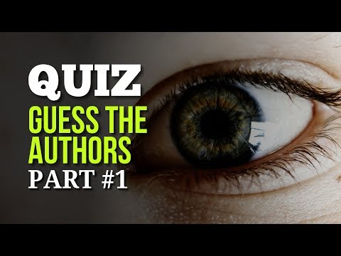 Quiz - Guess These 36 Authors #1