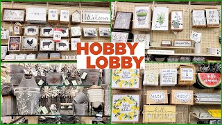 HOBBY LOBBY SPRING SUMMER 2021 HOME DECOR SHOP WITH ME NEW FINDS!