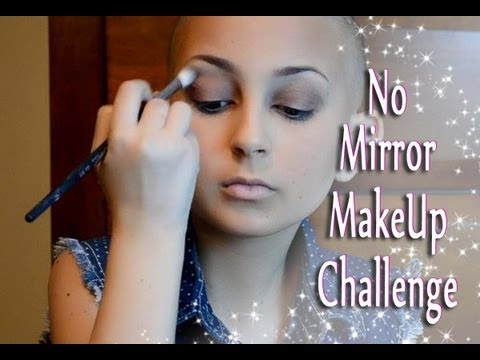 No Mirror MakeUp Challenge!!