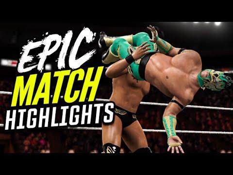 WWE 2K16 Royal Rumble 2016 Kalisto Vs. Alberto Del Rio | Epic Match Highlights!