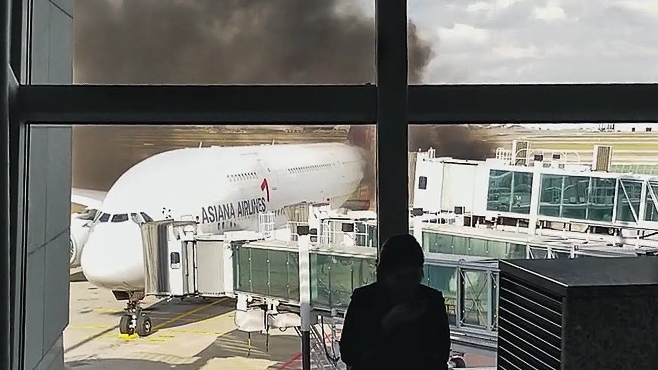 Plane Catches Fire
