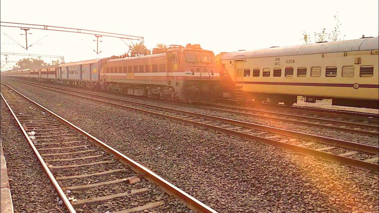 आधुनिक एलएचबी कोचों के साथ चली 09064 दानापुर उधना एक्सप्रेस , Inaugural Run with LHB coaches 09064