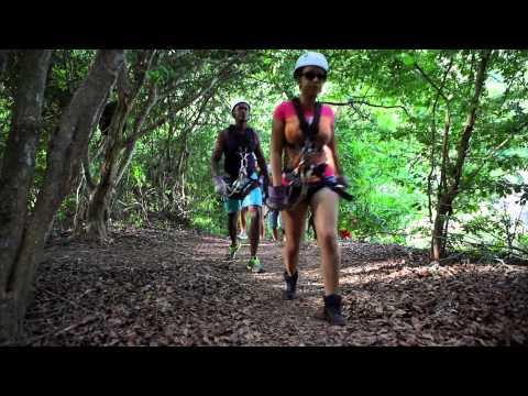 Zip Lining in Chaguaramas