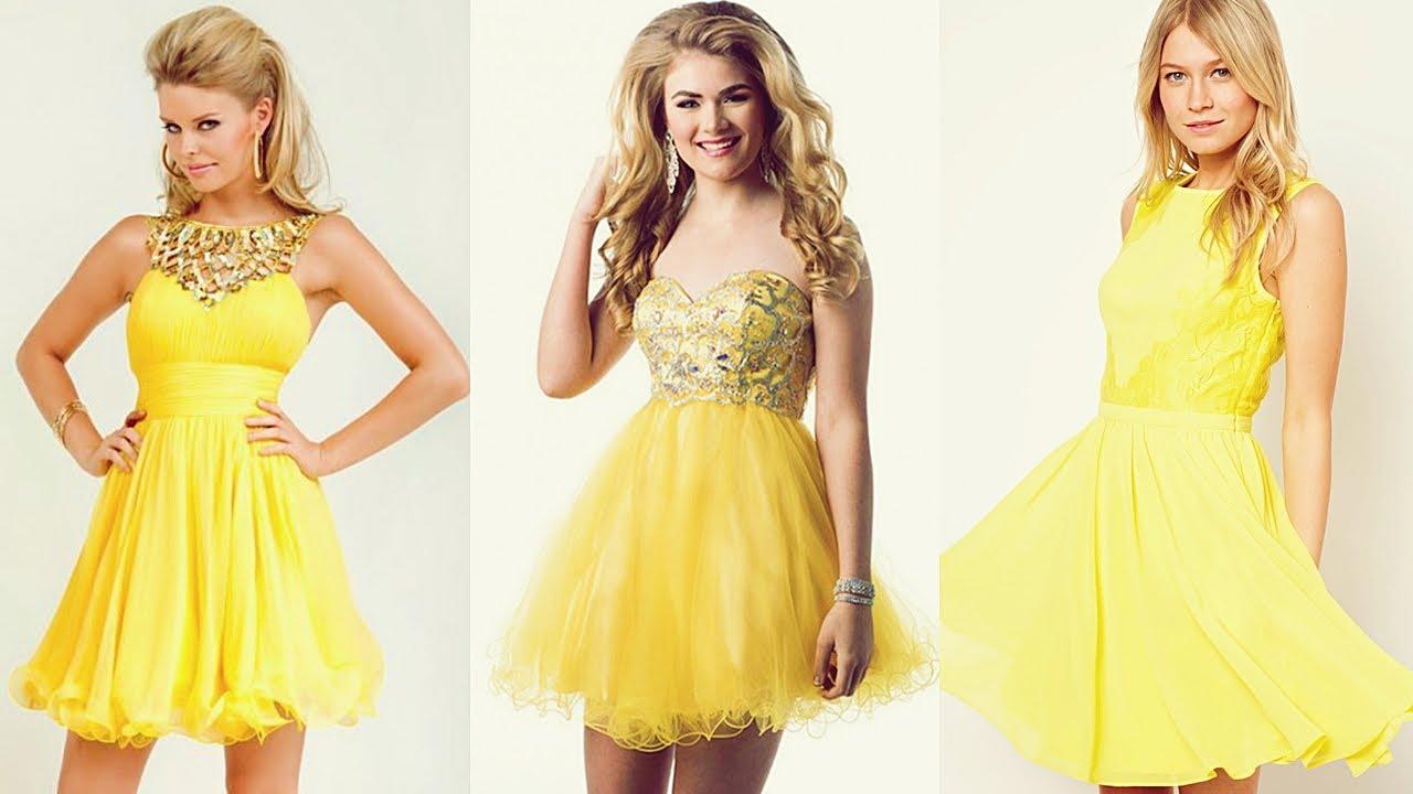 Vestidos de graduacion amarillos