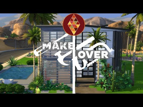Modern Beach House - The Sims 4 - House Makeover | HD thumbnail