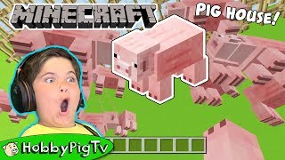 Minecraft Pig House Build With HobbyFrog HobbyPigTV