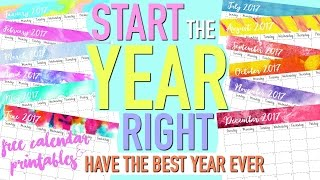 START THE YEAR RIGHT | How to Have the BEST YEAR EVER & FREE Calendar | Paris & Roxy