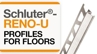 How to install a tile transition on floors: Schluter®-RENO-U profile