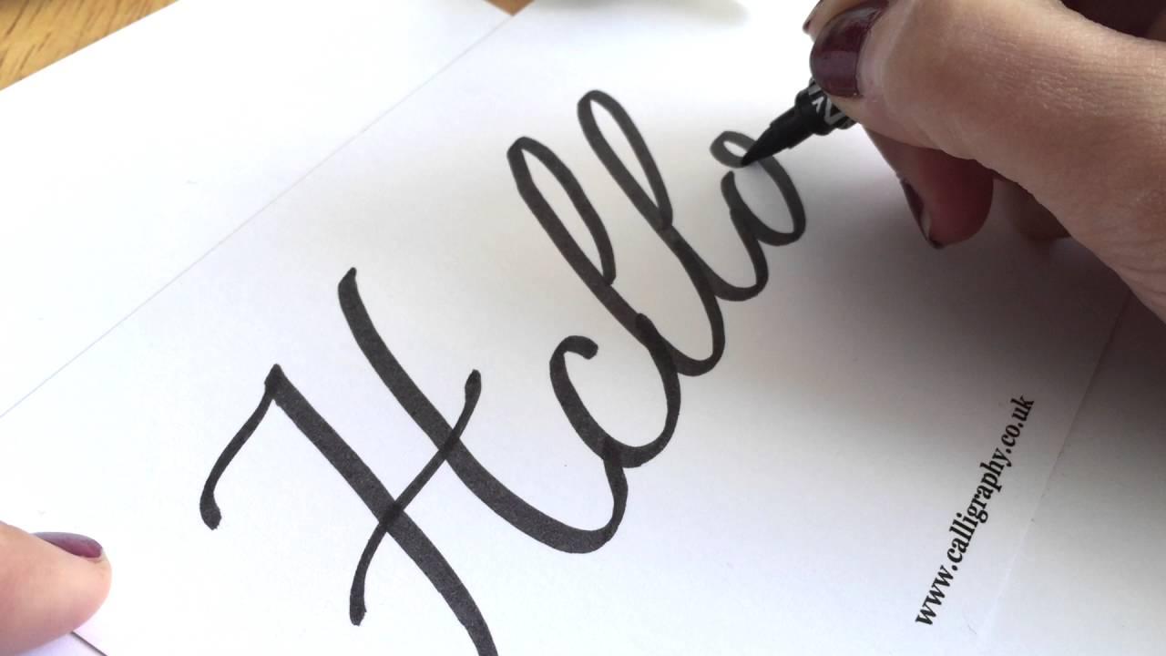 Hello march handwritten lettering modern calligraphy vector