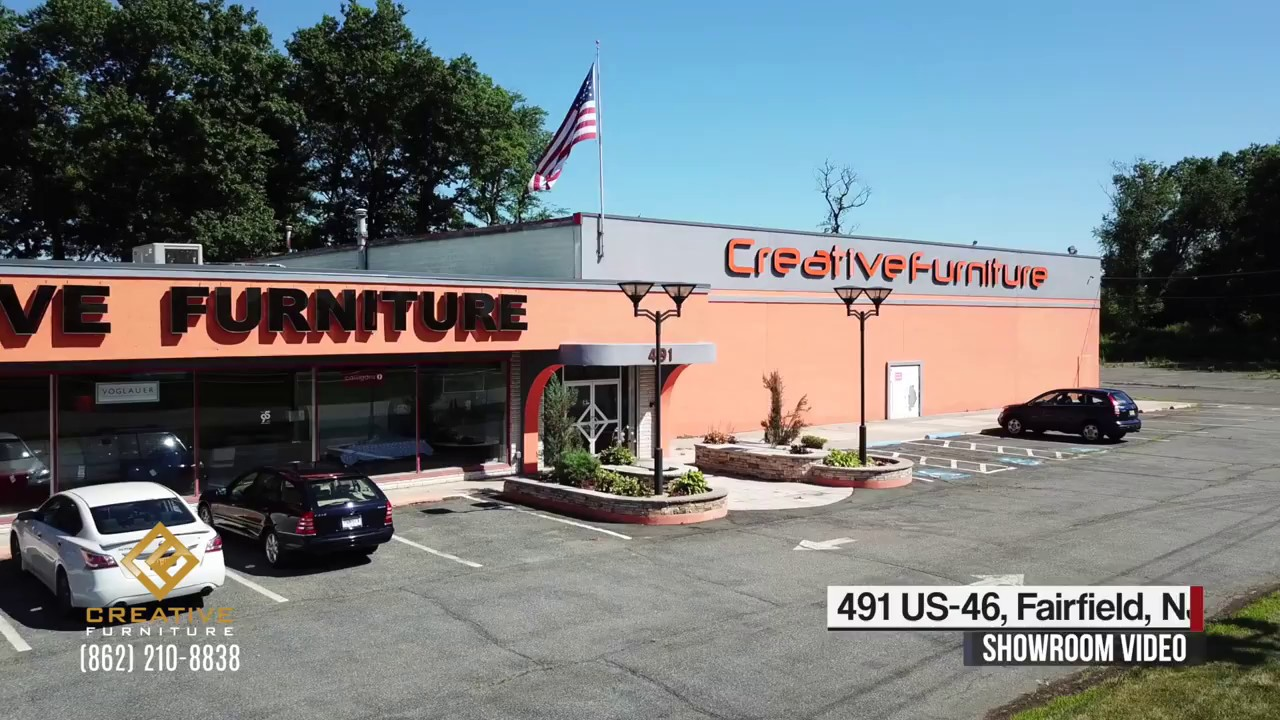 Creative furniture galleries 491 rt 46 nj showroom video