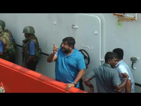 Sri Lanka Navy chief assaults journalist on Human Rights Day 2016