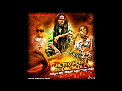 Yaniss Odua, Matinda Di Lion & Elephant Man - Ghetto People Riddim Medley - Remix by 187 Artwork